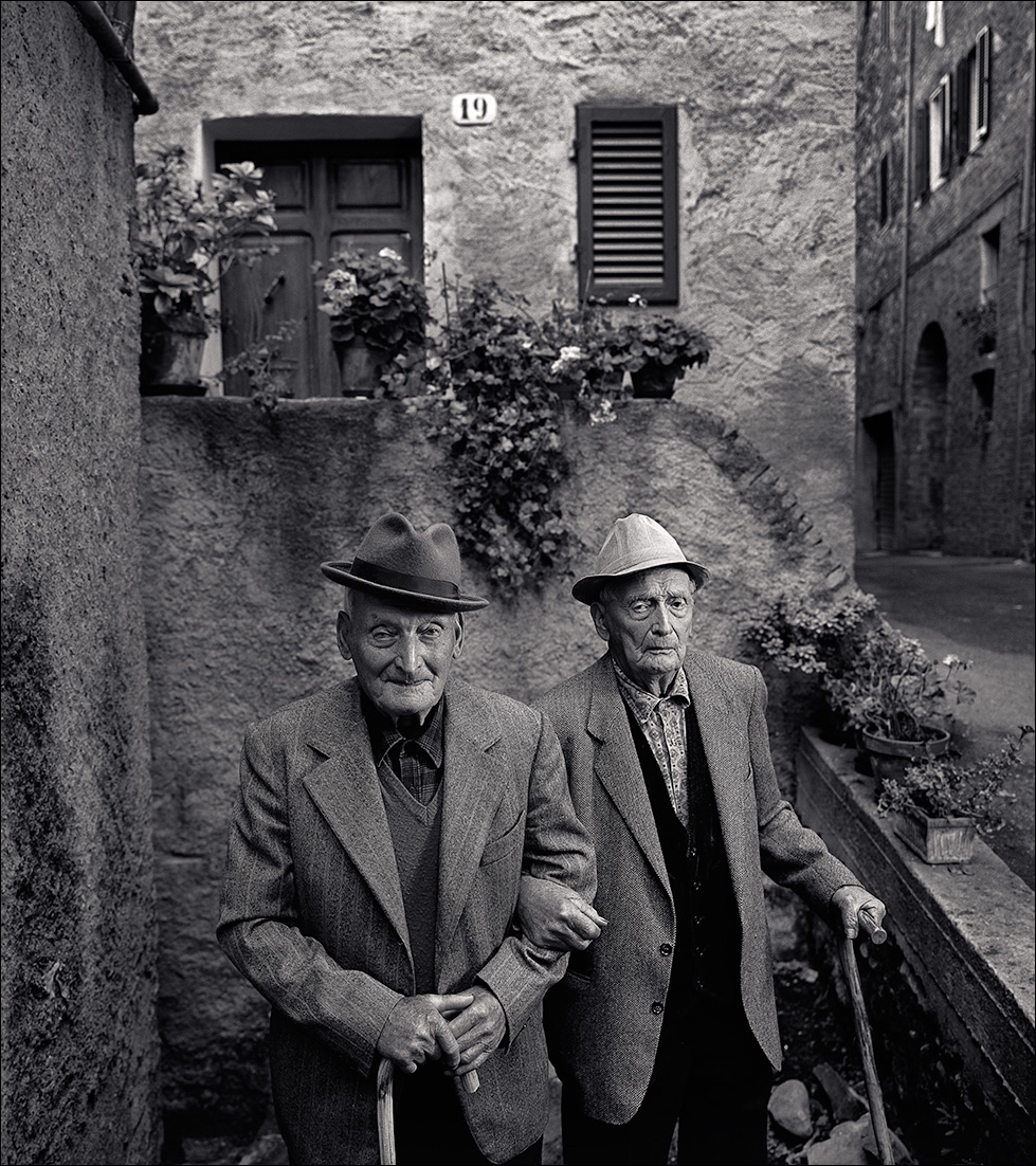 Nonagenarian brothers, italy, postrait